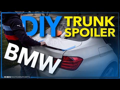 BMW F30 328 Lip Spoiler Install (SUPER EASY!)