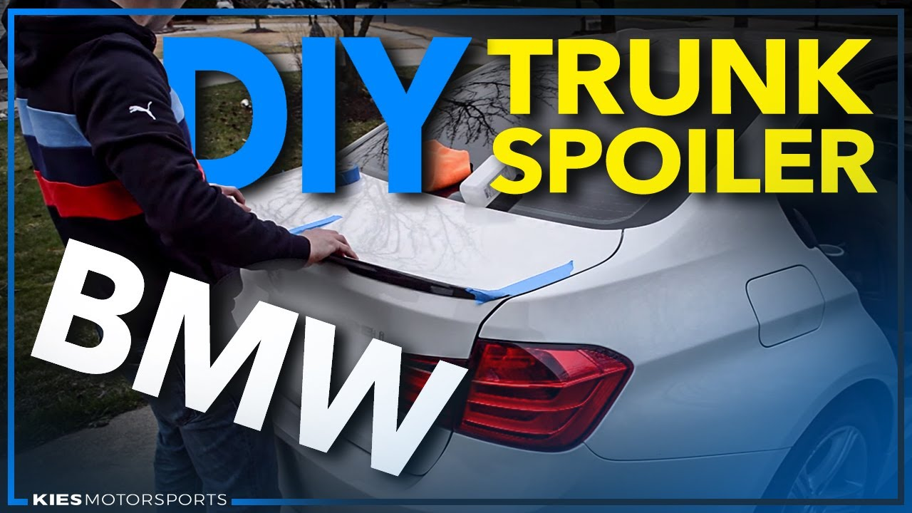 Bmw F30 328 Lip Spoiler Install Super Easy Youtube