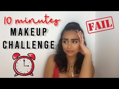 10 MINUTES MAKEUP CHALLENGE 🤯- CRAZY - Big Fail - Hillary Bakhuis