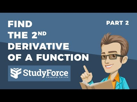 📚 How to find the second derivative of a function (Part 2)