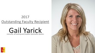 2017 Outstanding Faculty Recipient - Gail Yarick