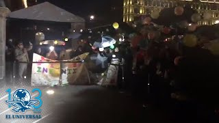 Protestan contra nuevas reglas del programa de estancias infantiles en el Zócalo