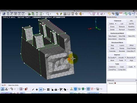 Ansa FEM solid-tetra mesh tutorial