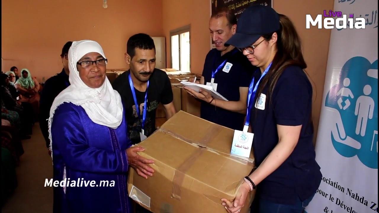"""جمعية نهضة زناتة تختم مبادرة """" قفة رمضان """" بتوزيع 100 قفة لفائدة الارامل والاسر الفقيرة"""