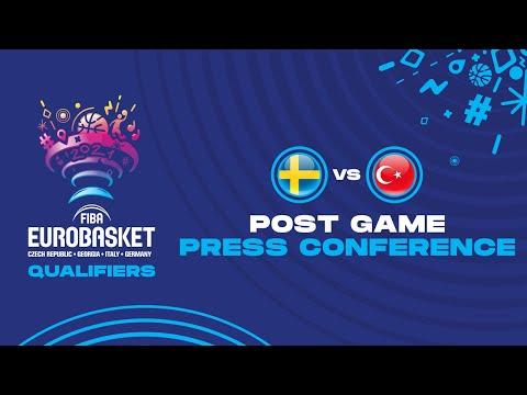 Sweden v Turkey - Press Conference - FIBA EuroBasket Qualifiers 2022