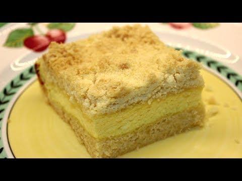 Королевская Ватрушка - Творожный Пирог из творога со Штрейзелем - Штрейзельная крошка рецепт