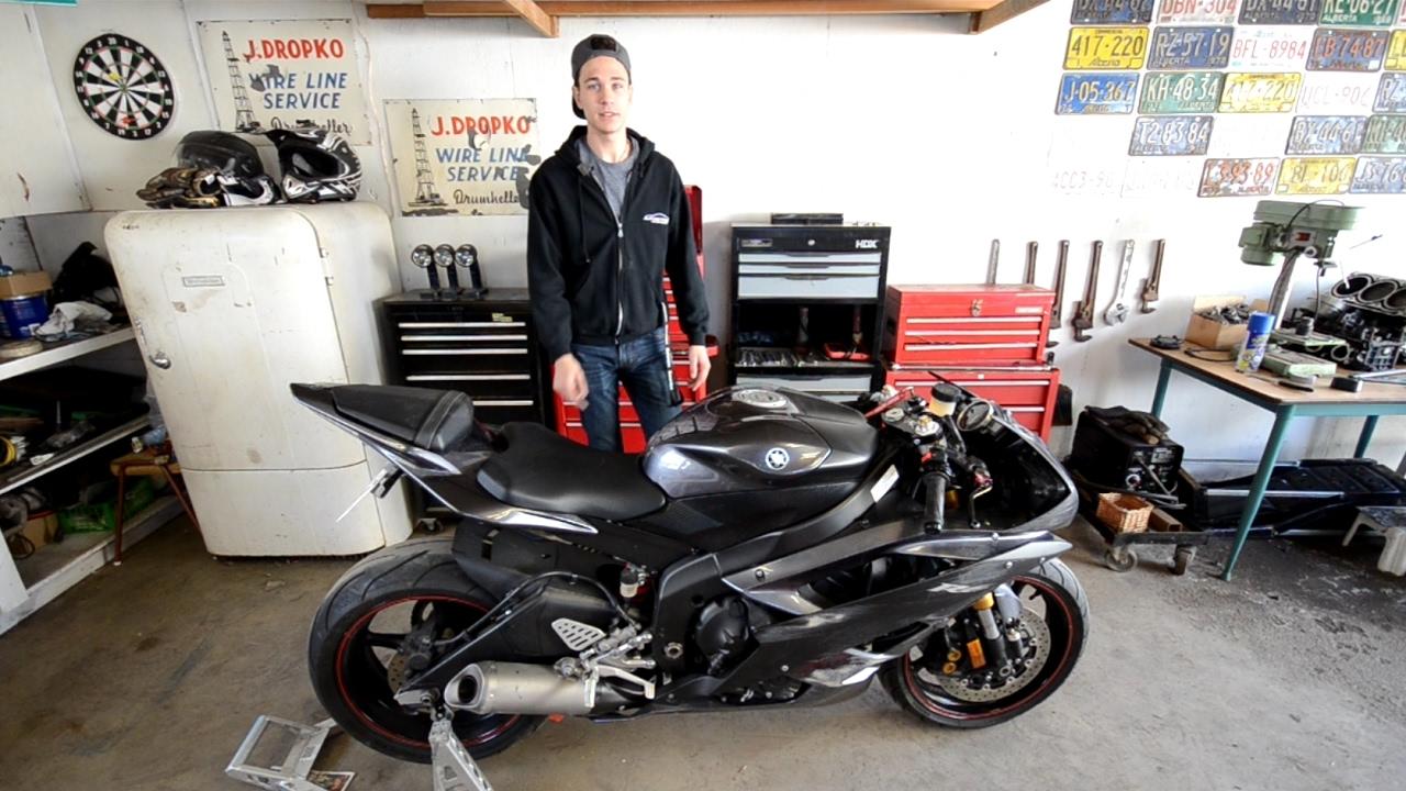 Yamaha R6 Project/Rebuild Part 2 - Spools, Tinted Windscreen, Wrap Ideas!