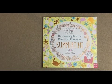 Summertime Coloring Book Of Cards And Envelopes Flip Through