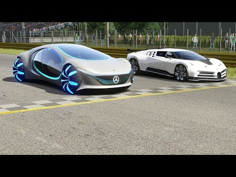 Mercedes-Benz Vision AVTR vs Bugatti Centodieci at Monza Full Course