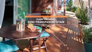 Flood Wood Stain Demonstration: Flexible, Durable And Watertight