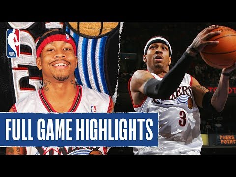 FULL GAME HIGHLIGHTS: Allen Iverson Heats Up For 60 PTS in Philly!