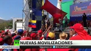 Chavismo y oposición protagonizan una nueva movilización este sábado en Venezuela