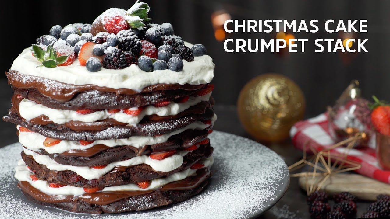 Christmas Cake Crumpet Stack