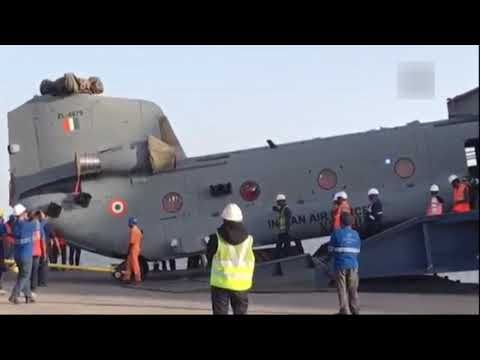 Watch: India recieves first batch of US-made Chinook helicopters