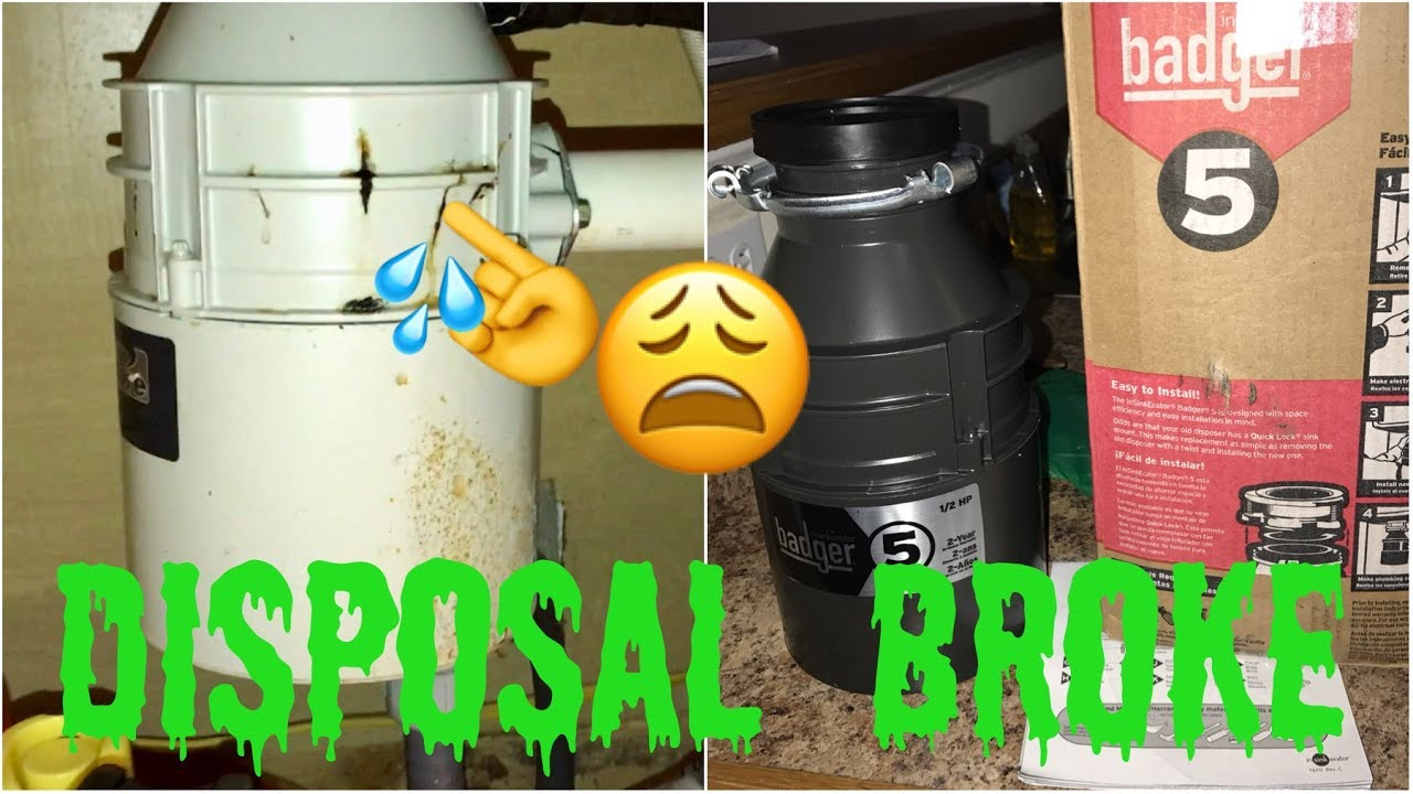 garbage disposal fix stopped working so i replaced my leaking garbage disposal with badger 5 12hp - Badger 5