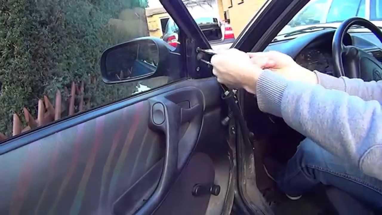 Opel Astra F Auenspiegel wechseln [Anleitung] - YouTube
