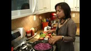 Red Cabbage With Sweet Green Peas - Episode 7, Cooking Without Boundaries By Reema Chandra