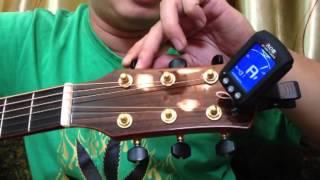 Bài 10 - Hướng Dẫn Lên Dây Đàn Bằng Máy Lên Dây [Đệm hát guitar cơ bản]