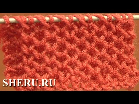How To Knit Honeycomb Pattern : How to Knit Honeycomb Stitch Pattern ???? 4 ???? ??????? ???? - YouTube