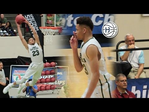 Kevin Knox DROPS 40 Points In Front of UNC Coach Roy Williams! 7-7 From 3 in State Semi-Final!