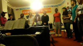 Ashburnham singing group, practice for Easter 2011, I know He rescued my soul