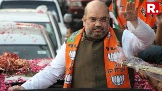 BJP President Amit Shah's Mega Roadshow In Ahmedabad, Gujarat