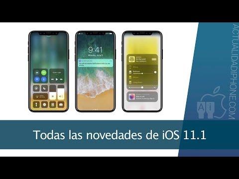 Todas las novedades de iOS 11.1