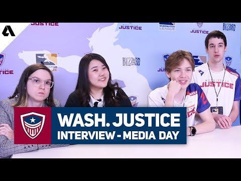 Washington Justice Interview ft Stratus, Fahzix, Avalla, MC & Kate - Overwatch League 2019 Media Day thumbnail