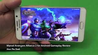 Marvel Avengers Alliance 2 for Android Gameplay Review