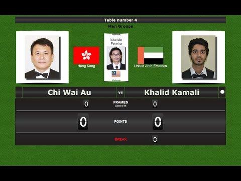 Snooker 6 reds Groups : Chi Wai Au vs Khalid Kamali