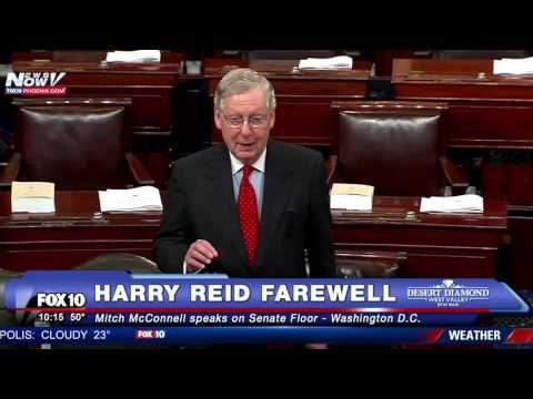 WOW: Sen. Mitch McConnell Pays Tribute to Harry Reid on Senate Floor - FNN
