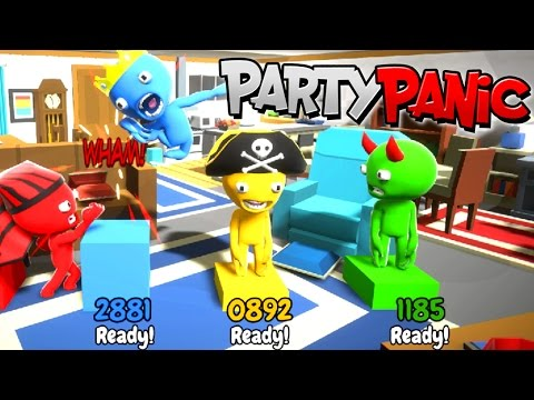 PARTY PANIC | FUNNY MINIGAMES! | RADIOJH GAMES & GAMER CHAD