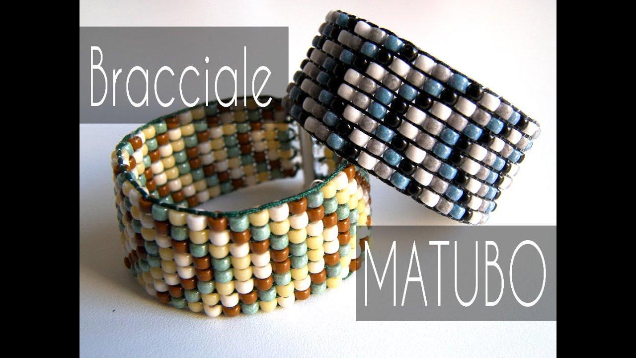 Famoso Tutorial Perline - Braccialetto Matubo con Telaio - YouTube TX75
