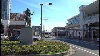 常磐線特急の終着駅でもある勝田駅東口の風景
