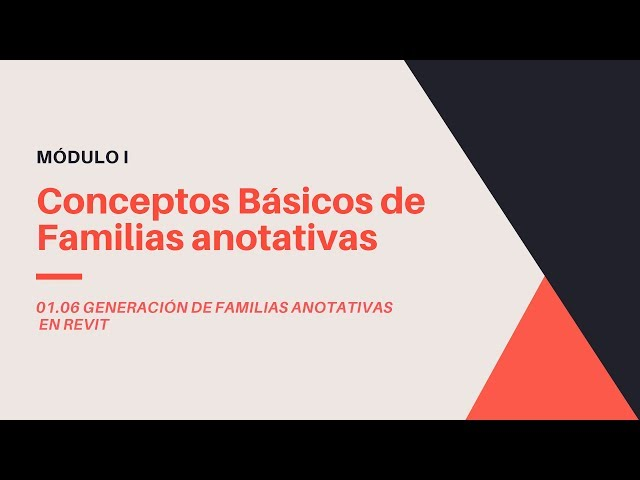 Familias en Revit 2020 | 06 01 Conceptos básicos de Familias anotativas