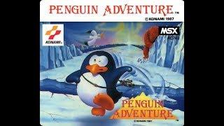 Penguin Adventure MSX 1986 konami Play game stage 1