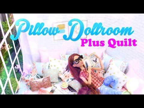 DIY - How to Make: Dollhouse Pillow Room PLUS Quilt - Pinterest Doll Crafts - 4K