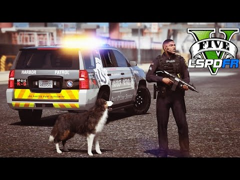 GTA 5 - LSPDFR Ep248 - K9 Harbor Patrol - Ace to the Rescue!!