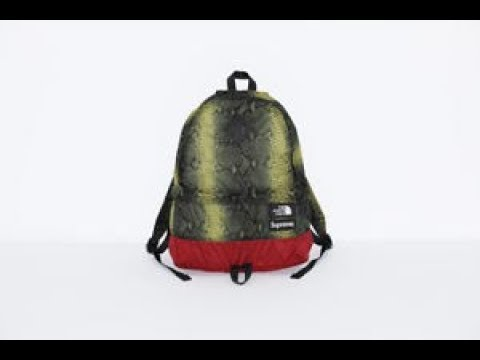 d78ba4a18 Green Supreme x The North Face Snakeskin Lightweight Day Pack ...