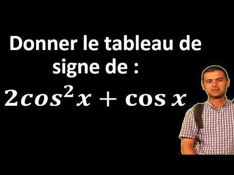 #الرياضيات الحساب المثلثي جدول الاشارات #Trigonométrie Tableau de signe - YouTube