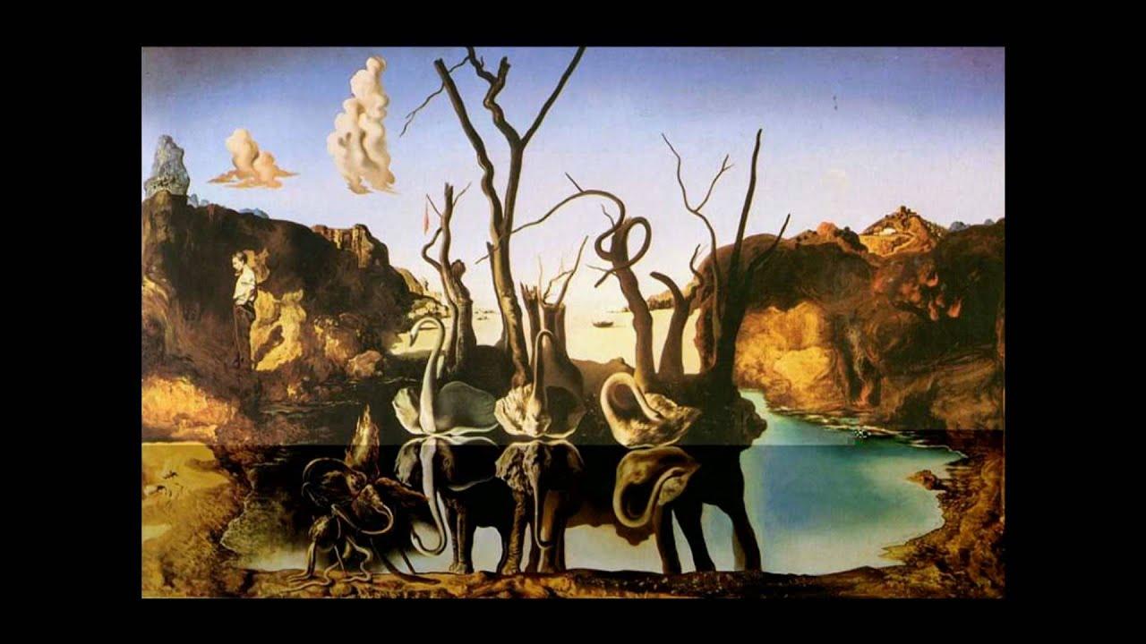 Dali vs kandinsky youtube for Swans reflecting elephants