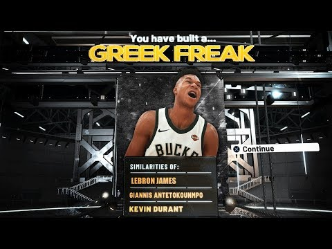 NBA 2K20 GIANNIS ANTETOKOUNMPO BUILD! BEST OVERPOWERED SLASHER BUILD! DEMIGOD SMALL FORWARD BUILD!