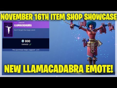 Fortnite Item Shop NEW LLAMACADABRA EMOTE! [November 16th, 2018] (Fortnite Battle Royale)