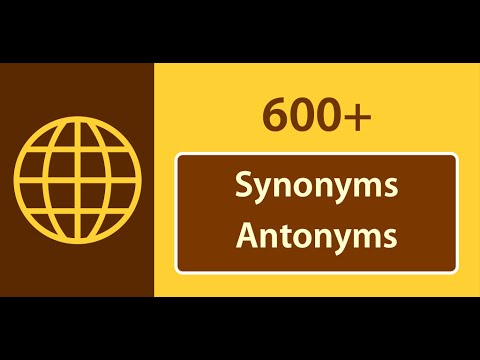 English Synonyms And Antonyms English Word Definition Synonyms