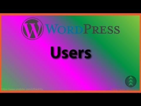 WordPress Users - 동영상