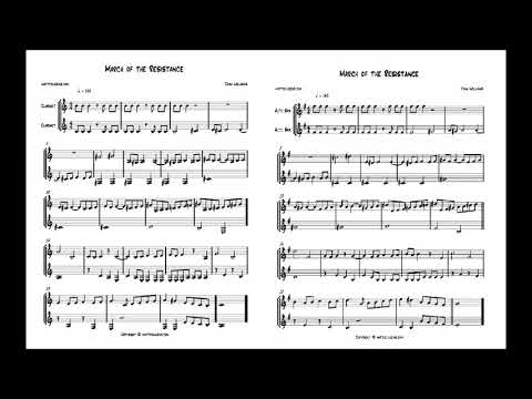 March of the Resistance from Star Wars (John Williams) Clarinet and/or Alto Sax Duet