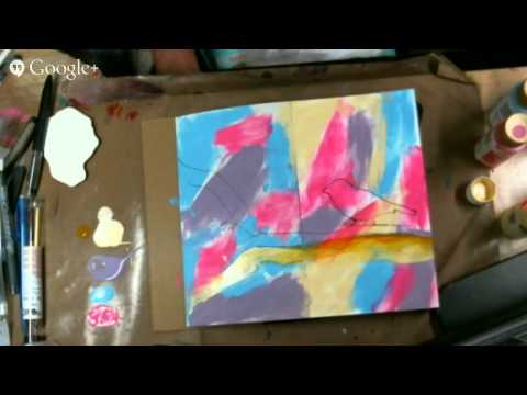 Free Art Journal Class - finger painting