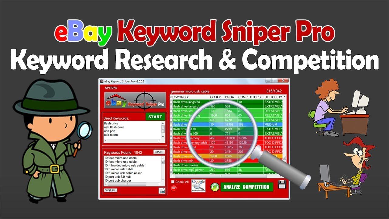 Analyze Keywords & Amount of Competitors For Each Keyword on eBay