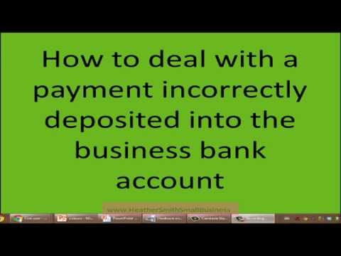 Xero video: dealing with a payment incorrectly deposited into bank account