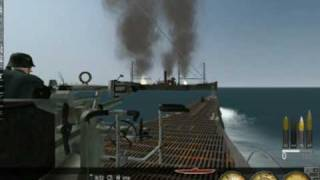 WPSTV - Silent Hunter III gameplay video: sinking merchant ship with deck gun